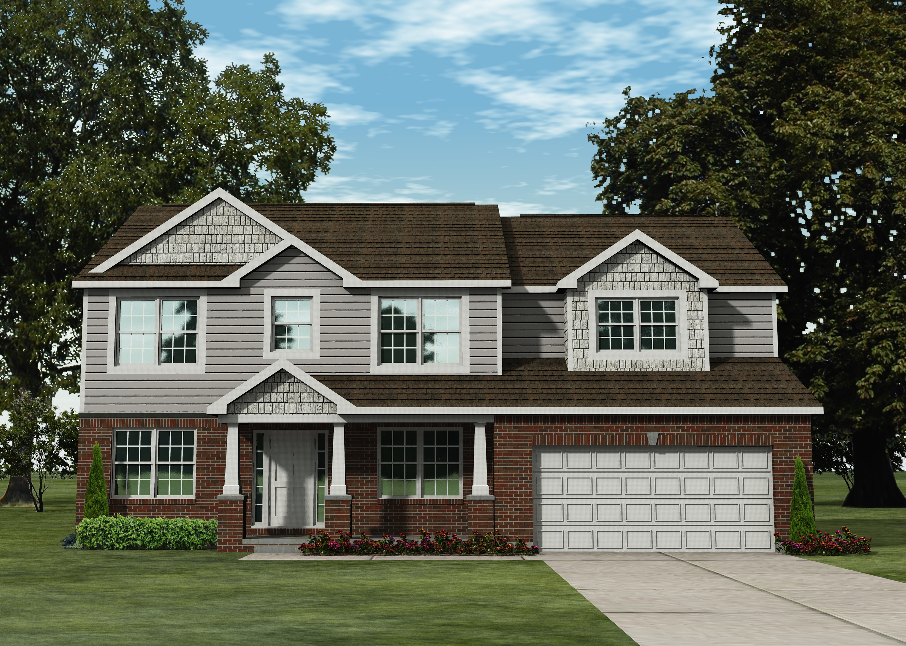 Mi forest lombardo homes for Craftsman model homes