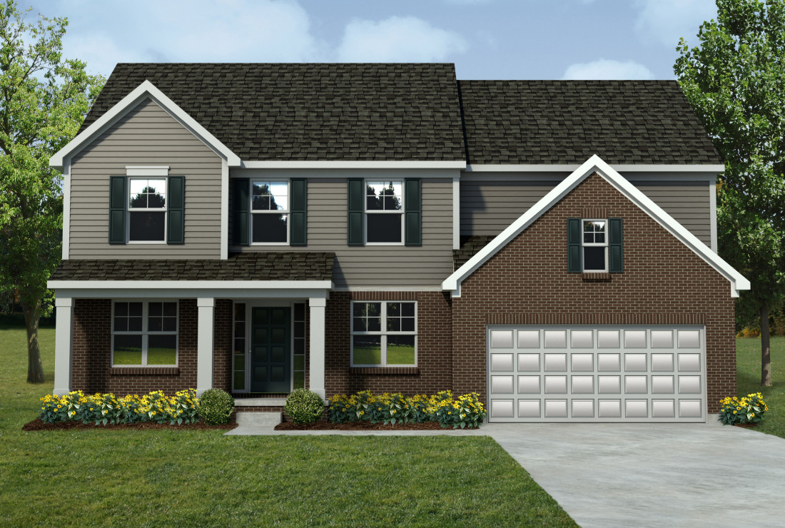 Mi barclay front entry lombardo homes for Michigan home builders