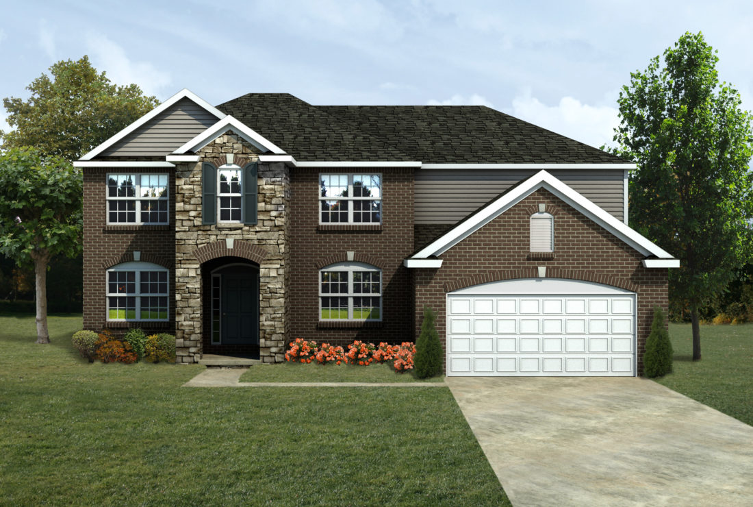 Mi summerfield front entry lombardo homes for Lombardo homes